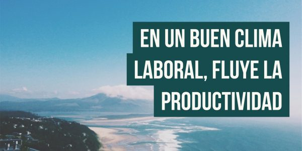 En un buen clima laboral, fluye la productividad